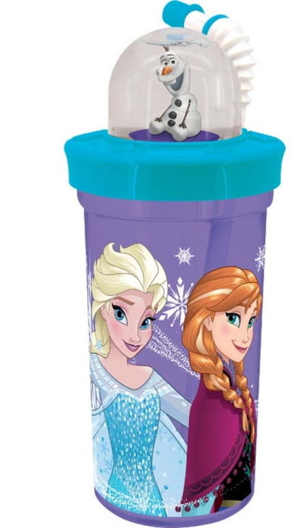 Bidon z figurką Frozen Sparkles 420 ml DISNEY