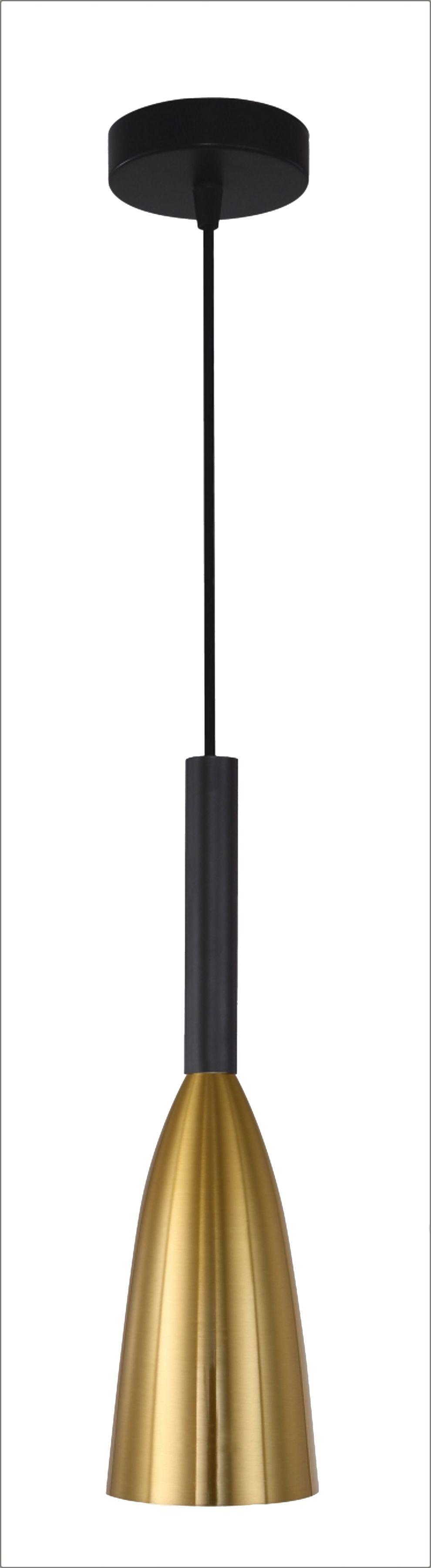 Light Prestige Solin LP-181/1P GD lampa wisząca złota metalowa 1x60W E27 11cm