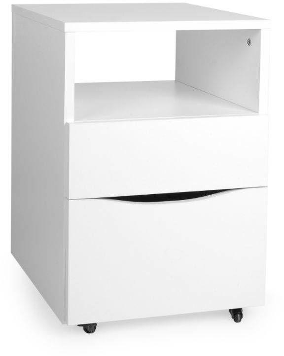 Drewniana szafka z szufladami na kółkach, meble do pokoju dziecka