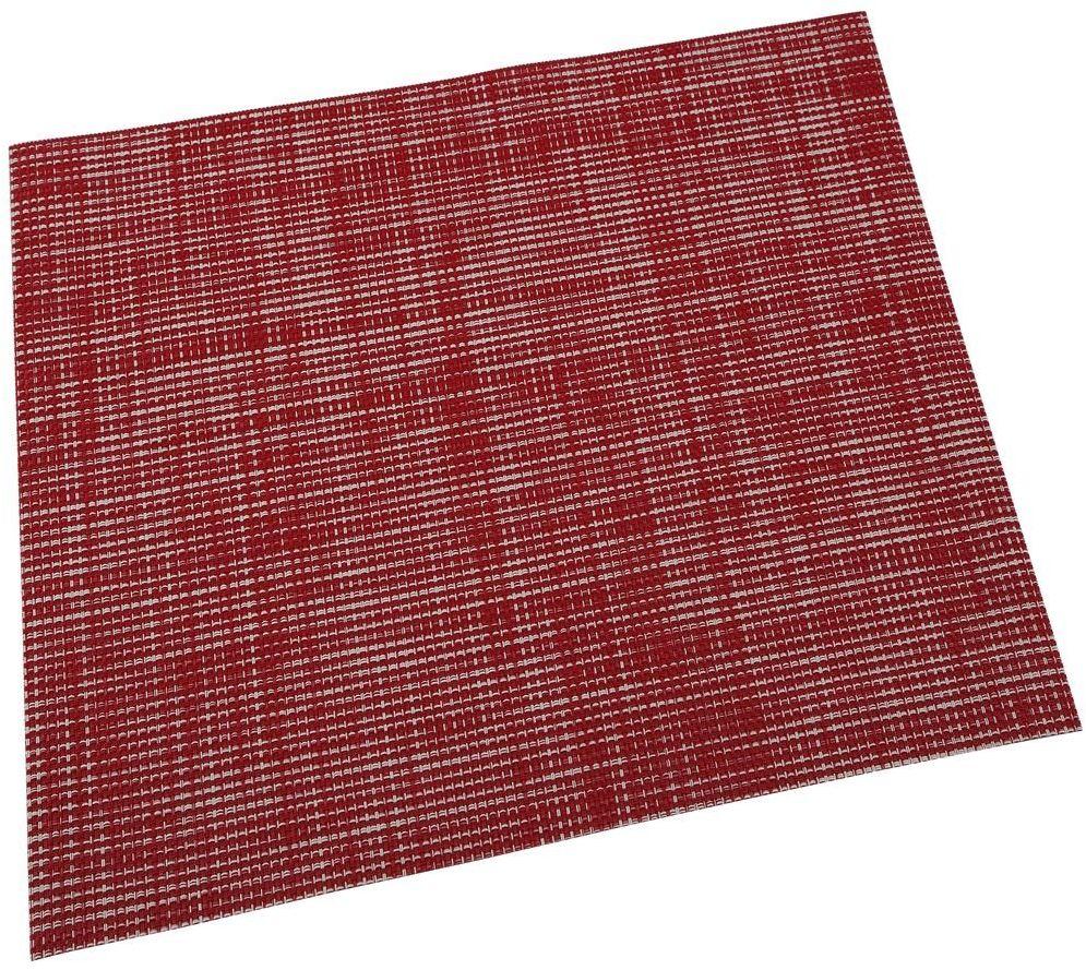 Renberg LISO tablemat, winyl, czerwony, 30 x 45 x 30 cm