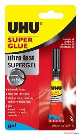 Klej UHU SUPER GLUE w żelu 3g 40360 2