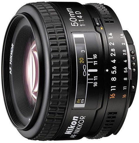 Nikon AF 50mm f1.4D Czarny + filtr UV