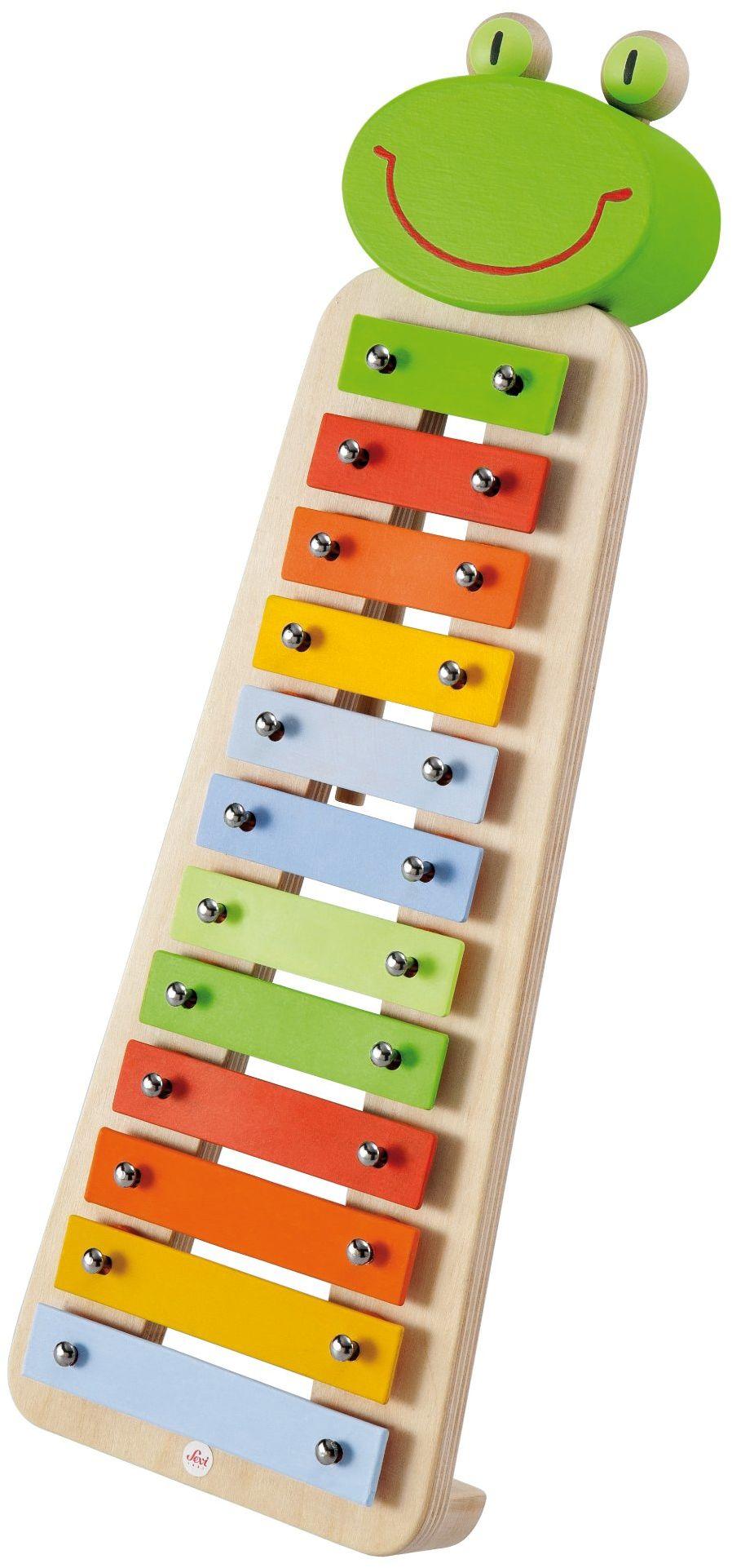 Trudi 82539 - Inna zabawka dla małych dzieci, Sevi Xilofono Metallico Rana, 40 x 4 x 13,5 cm