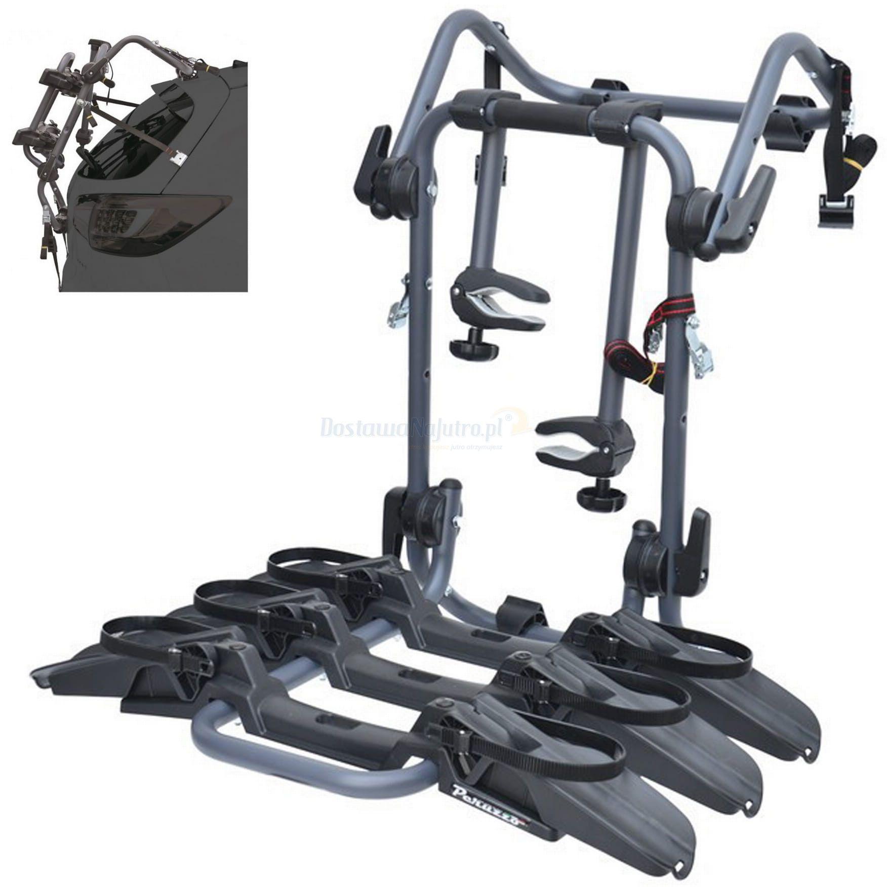 Tylny bagażnik montaż na klapę Pure Instinct Peruzzo 3 rowery