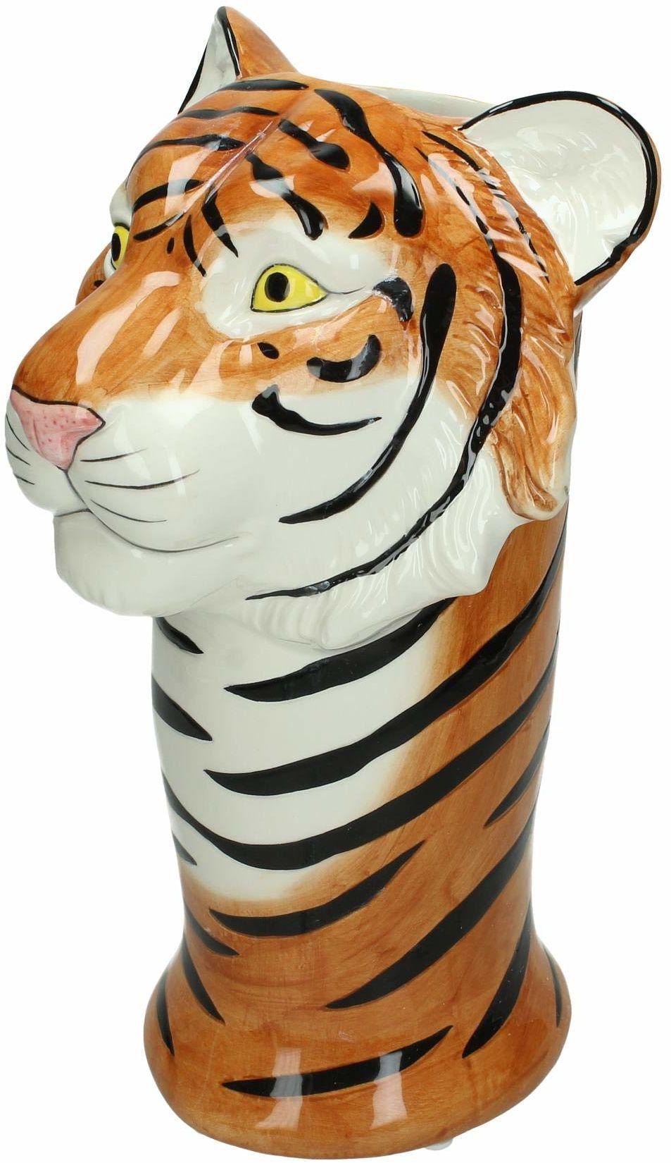 Wazon tygrys  drobna kamionka  brązowy  18 x 19 x 29,5 cm
