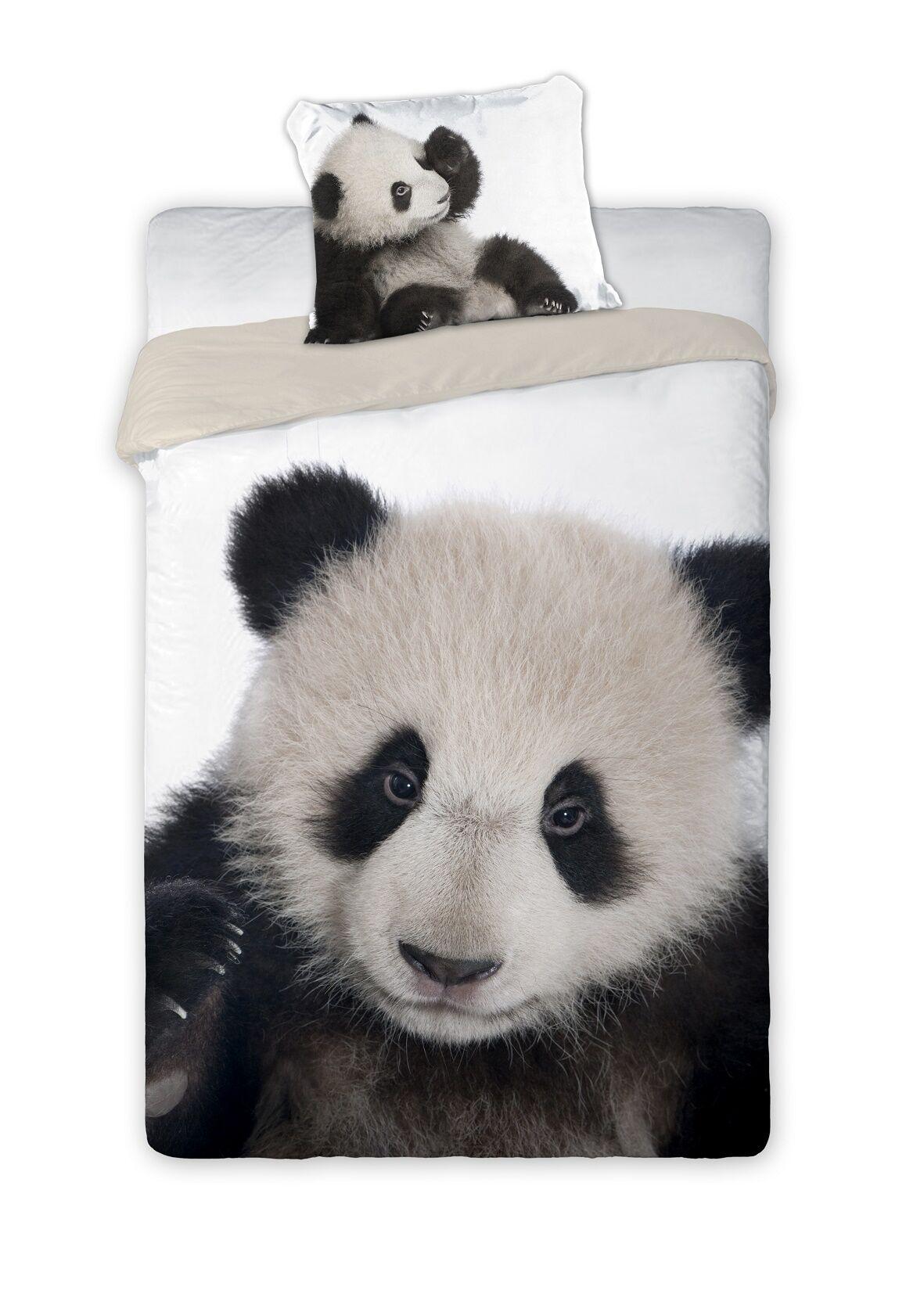 Pościel bawełniana 140x200 Miś Panda 8828 Faro