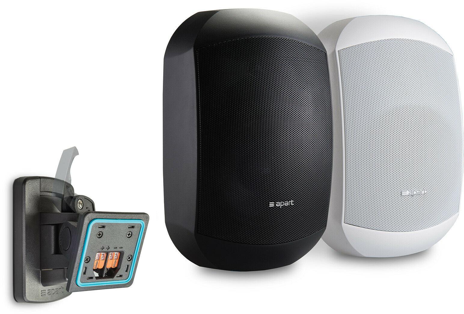 Apart MASK4CT-BL 2-drożny 4,25-calowy głośnik 50W 100V (Para) z systemem Clickmount - czarny