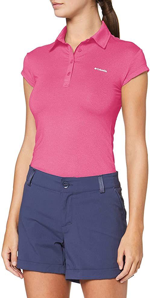 Columbia Peak To Point Novelty damska koszulka polo różowy Haute Pink X-S