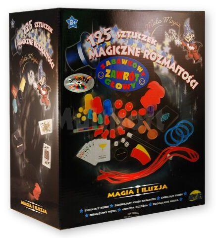 Mały magik 125 sztuczek zestaw z kapeluszem i płytą DVD