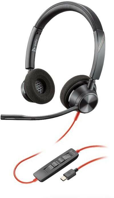 Plantronics Blackwire 3320 - przewodowy zestaw słuchawkowy stereo z USB-C