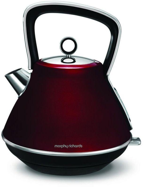 Morphy richards - evoke - czajnik elektryczny, czerwony - czerwony