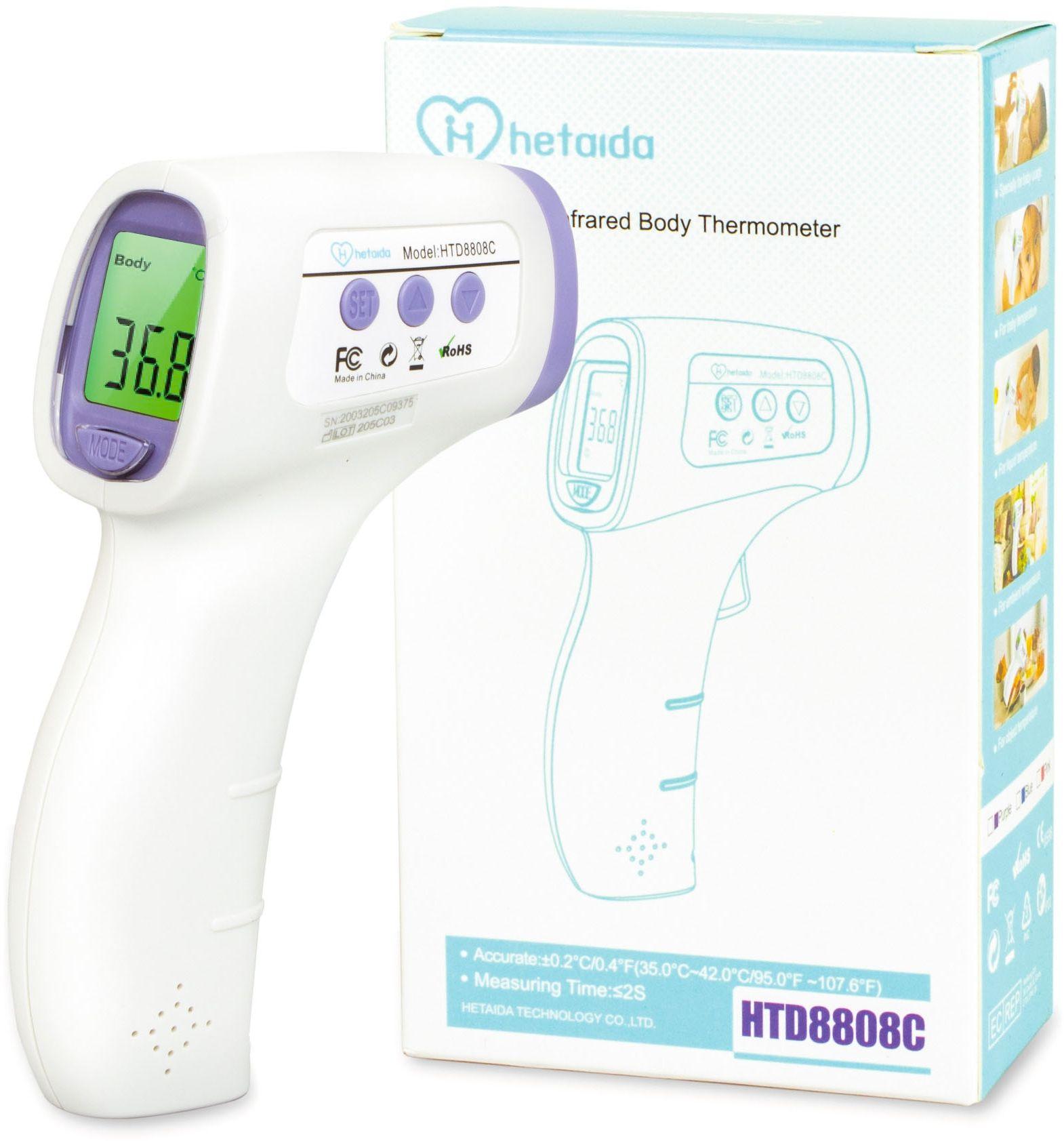 Termometr bezdotykowy HeTaiDa HTD8808C Termometr bezdotykowy mierzący nawet z 15cm!