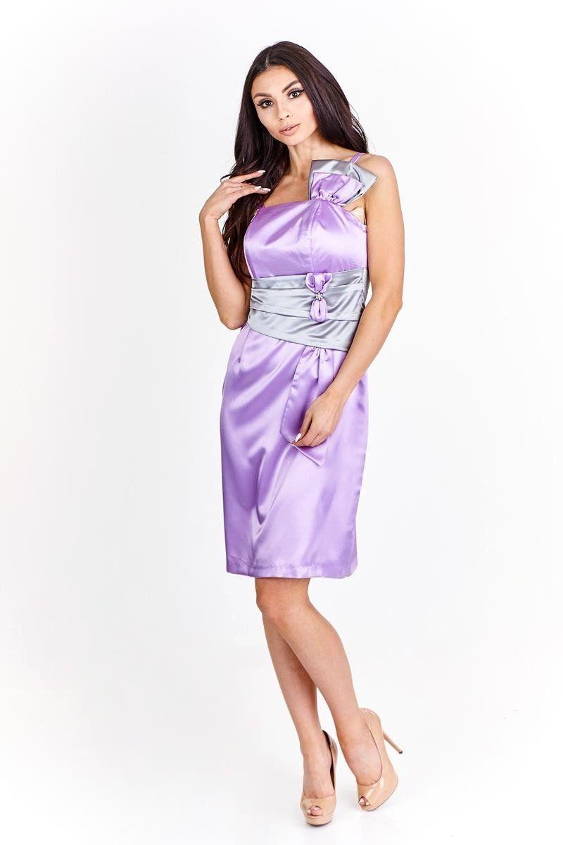 Sukienka FSU998 FIOLETOWY SZARY JASNY