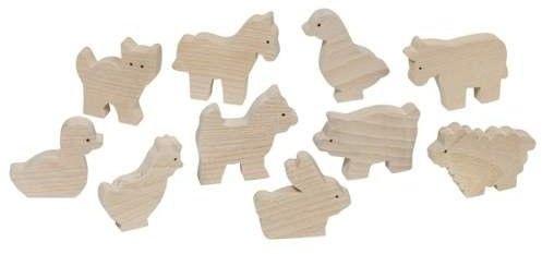 Drewniane figurki z farmy