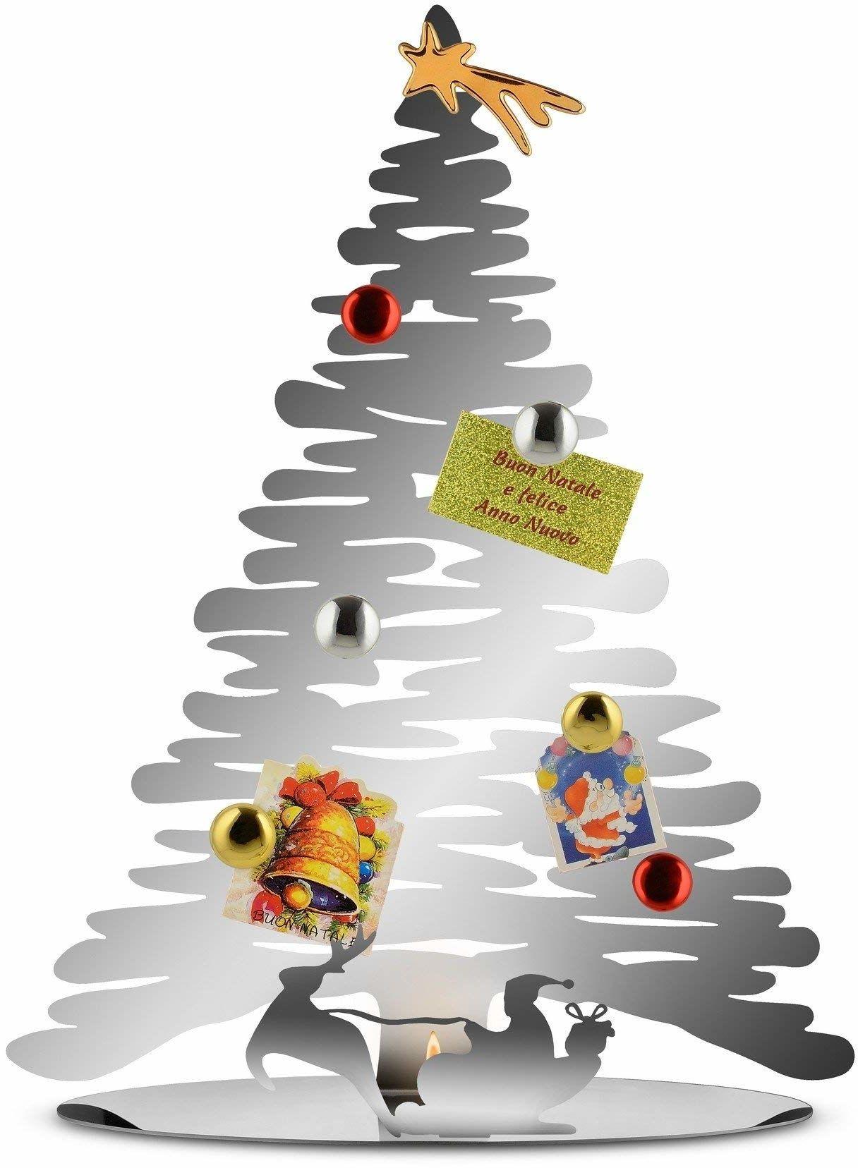 Alessi Ozdoba bożonarodzeniowa, stalowa, szara, 35,5 x 14 x 45 cm