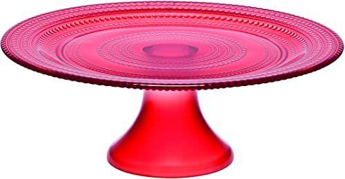 Bitossi Home Półmisek szklany O H.9 Ø 25 czerwony