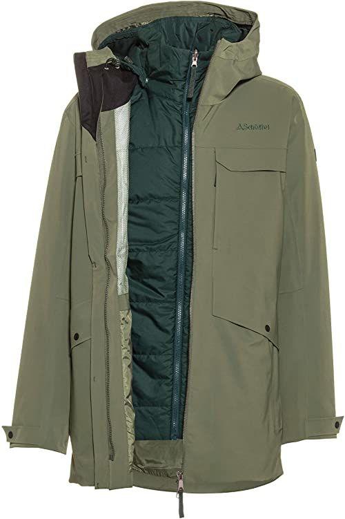 Schöffel Męskie podwójne kurtki 3 w 1 Parka Moskau M Tymianki 50