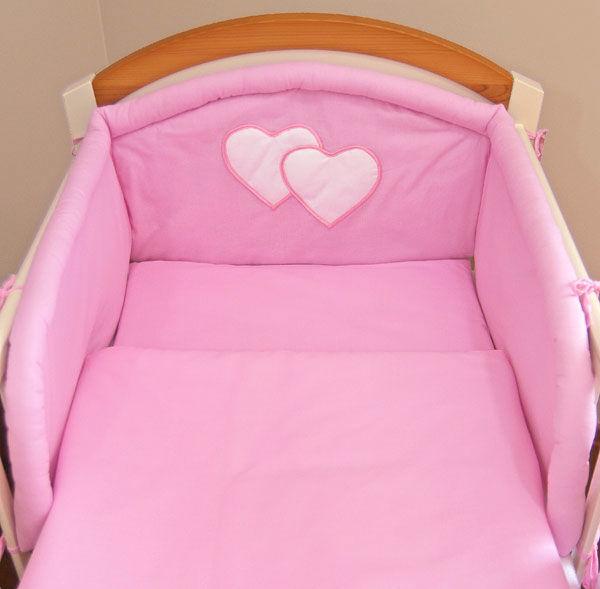 MAMO-TATO pościel 2-el Różowa do łóżeczka 70x140cm