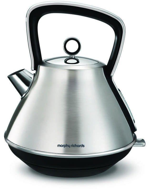 Morphy richards - evoke - czajnik elektryczny, stalowy - stalowy