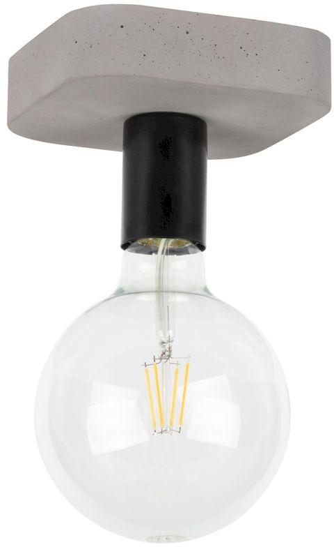 Spot Light 8254136 Fortan plafon lampa sufitowa beton szary/czarny metal 1xE27 60W 14cm