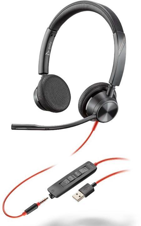 Plantronics Blackwire 3325 - Stereofoniczny przewodowy zestaw słuchawkowy z USB-A