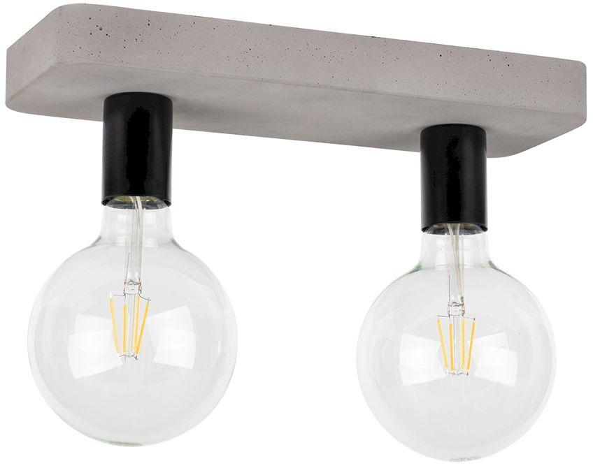 Spot Light 8254236 Fortan plafon lampa sufitowa beton szary/czarny metal 2xE27 60W 35cm