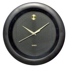 Zegar ścienny złota kropka czarny