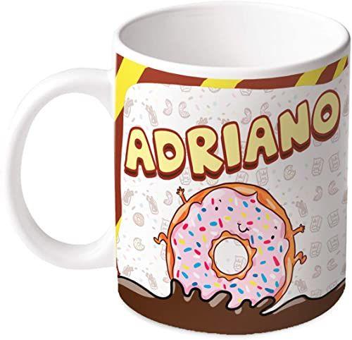 M.M. Group Filiżanka z imieniem i znaczeniem Adriano, 30 ml, ceramika, wielokolorowa