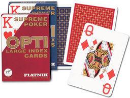 Karty do gry Piatnik 1 talia, Opti poker ZAKŁADKA DO KSIĄŻEK GRATIS DO KAŻDEGO ZAMÓWIENIA