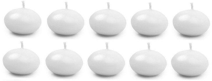 Świece pływające białe matowe 5cm 10 sztuk SDMAT50-008-10x