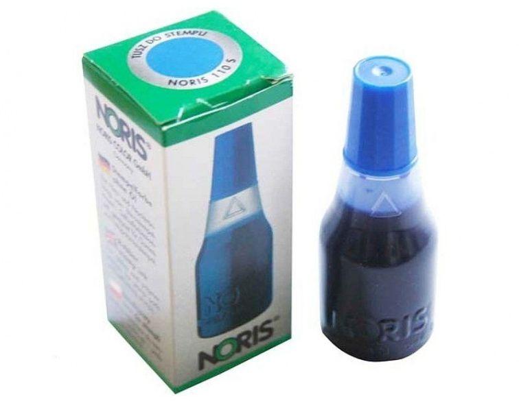 Tusz niebieski do stempli ręcznych, pieczątek 25 ml (TRO 110/B)