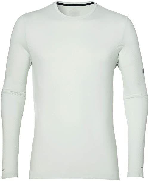 Asics Męska koszulka bezszwowa z długim rękawem, jasnozielona, XL-54/56