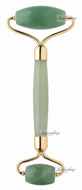 LashBrow - Awenturynowy roller / masażer do twarzy - Zielony Premium + SILIKONOWY POKROWIEC
