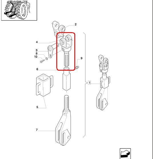 WIESZAK TRZYPUNKOWEGO ZACZEPU NEW HOLLAND CASE 47130639