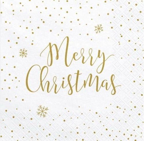 """Serwetki Świąteczne """"Merry Christmas"""""""