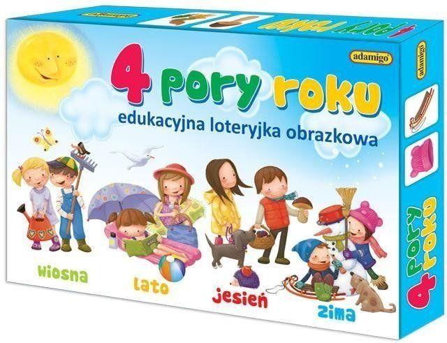 4 pory roku Edukacyjna loteryjka obrazkowa - Adamigo