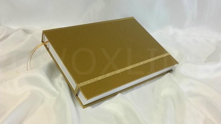 Brulion B5 gold z gumką
