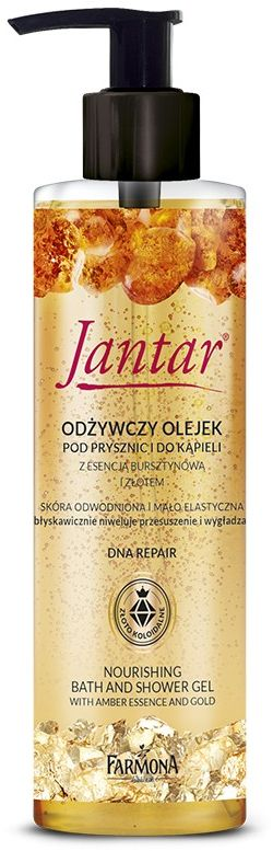 Jantar Olejek do kąpieli i pod prysznic ze złotem, 400ml