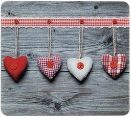 WENKO Multi-płyta serca  do płyt ceramicznych ceramicznych, deska do krojenia, szkło hartowane, 56 x 0,5 x 50 cm, wielokolorowa