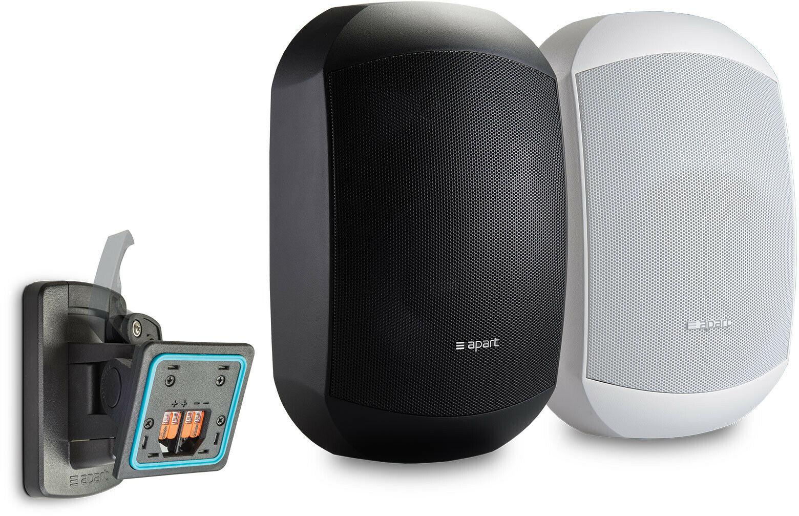 Apart MASK6CT-BL 2-drożny 6,5-calowy głośnik 60W 100V (Para) z systemem Clickmount - czarny