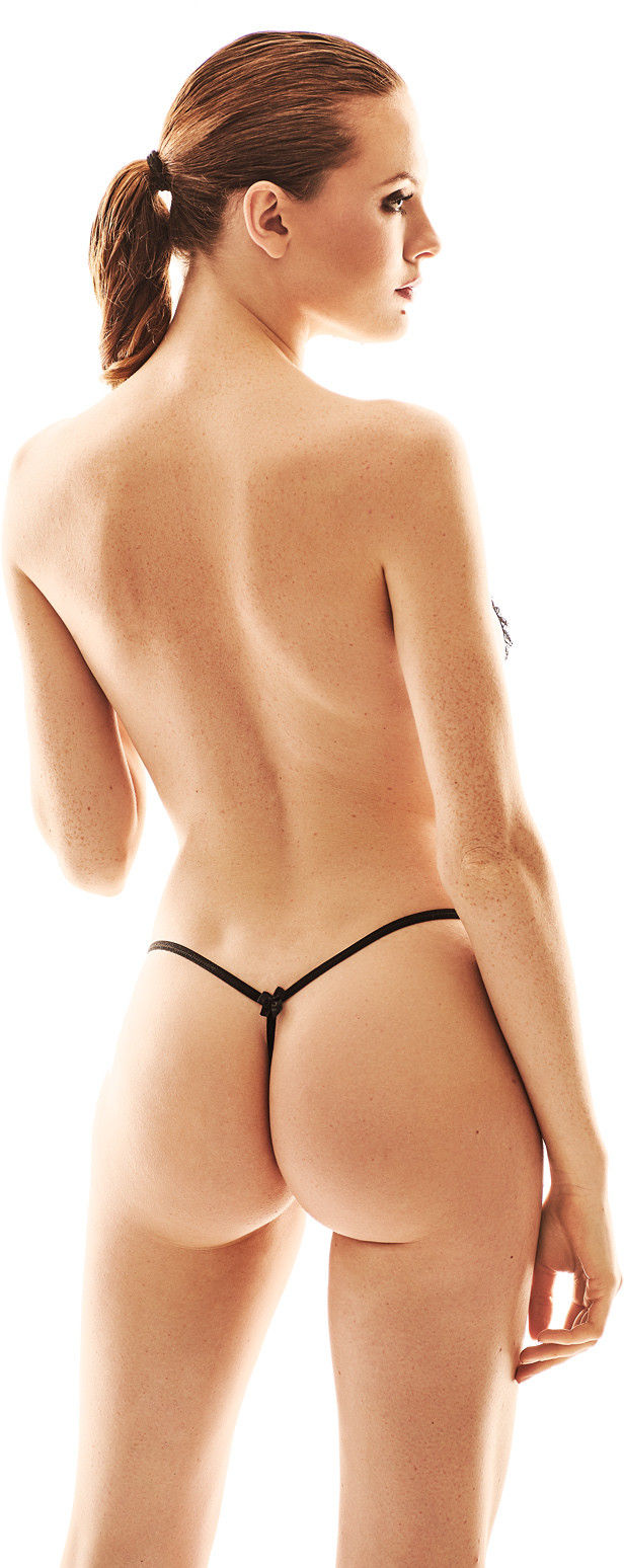Anais Pollie Open Thong Black