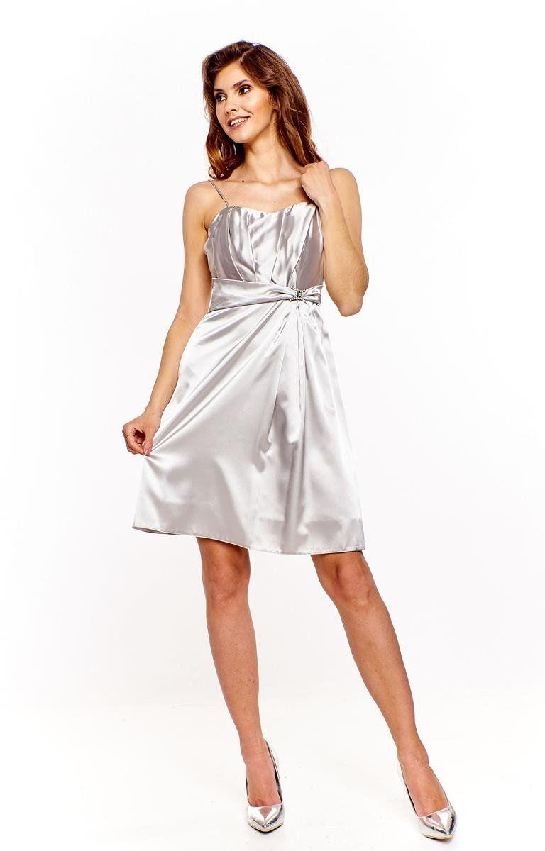 Sukienka FSU999 SZARY JASNY