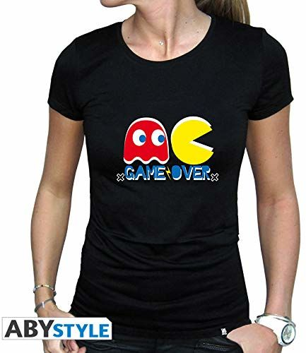 ABYstyle - PAC-MAN - T-shirt - ''Game Over'' - kobiety - czarny (L)