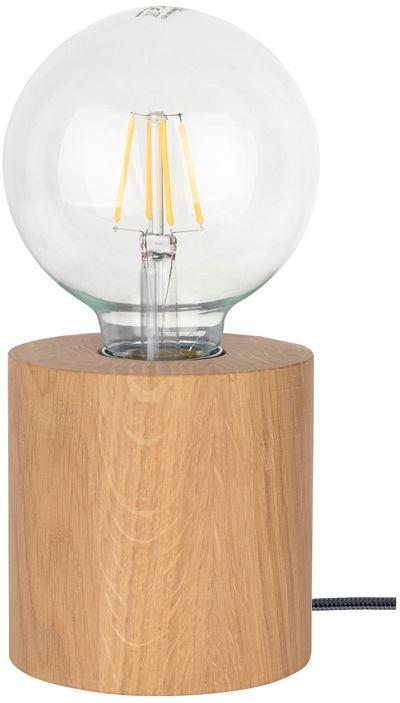 Spot Light 7071174 Trongo Round lampa stołowa walec drewno dąb olejowany/antracyt 1xE27 25W 10cm