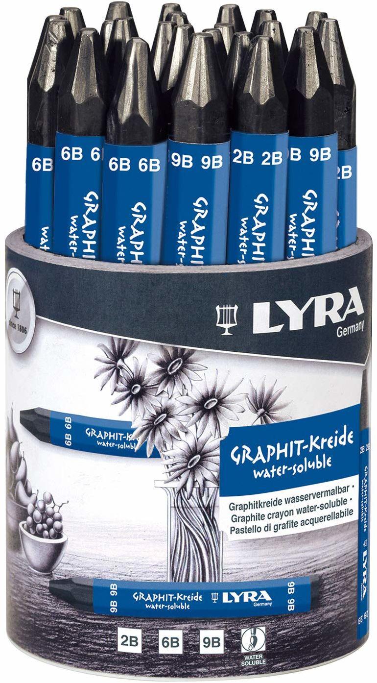Lyra Graph kredki rozpuszczalne w wodzie 24 garnki