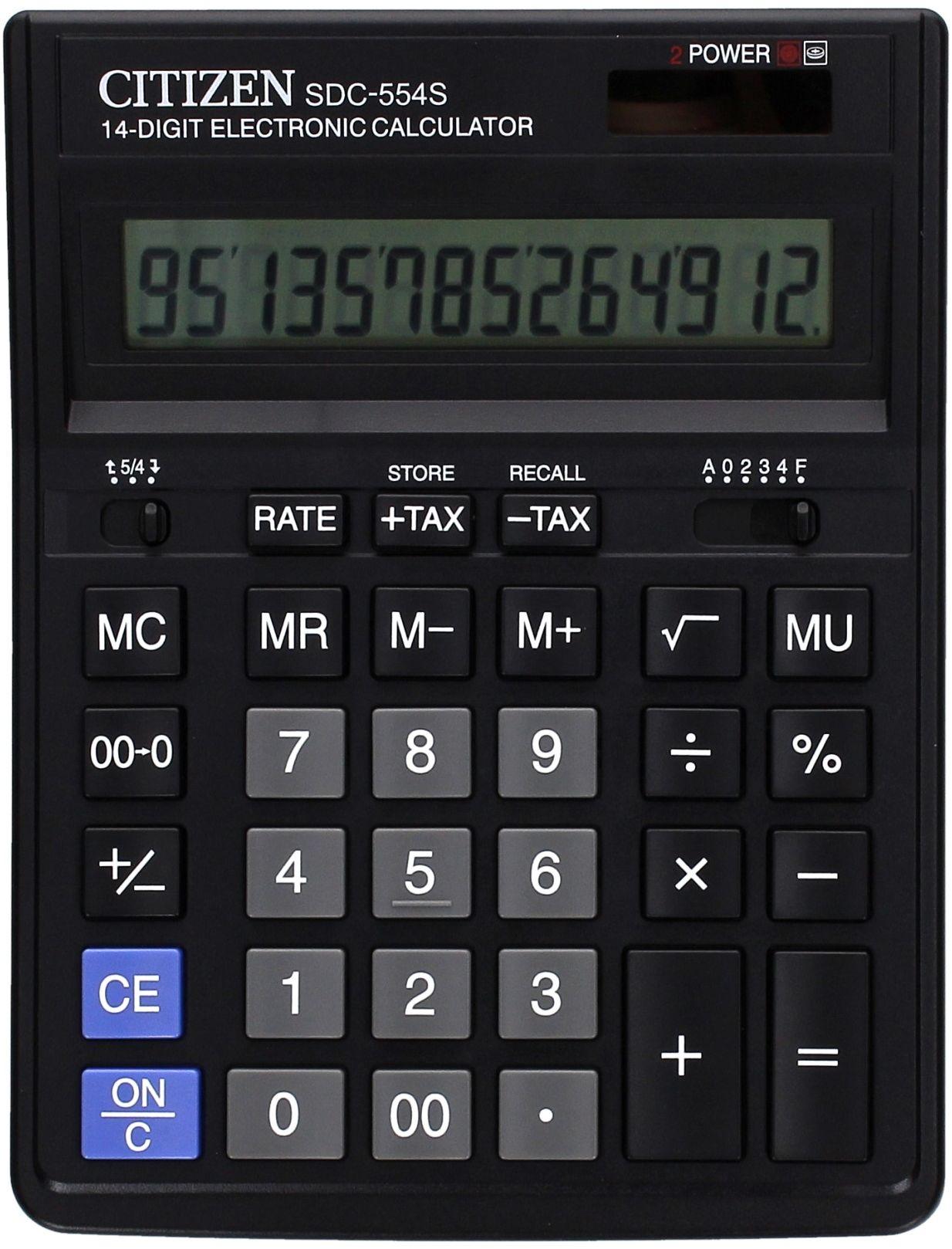Kalkulator 14pozycyjny SDC554S Citizen