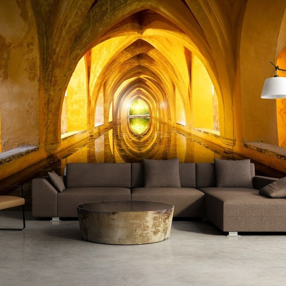 Fototapeta - złoty korytarz