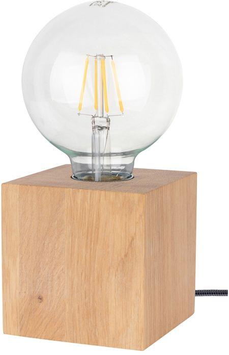 Spot Light 7171174 Trongo Square lampa stołowa kostka drewno dąb olejowany/antracyt 1xE27 25W cm