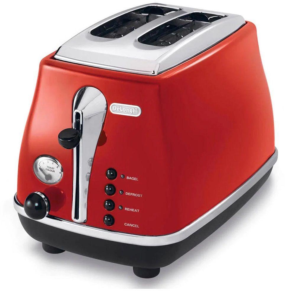 Toster DeLonghi CTO2003.R elektryczny czerwony