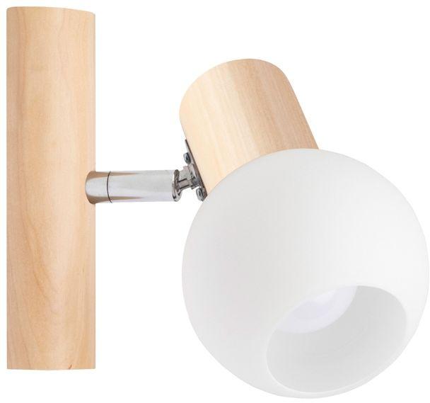 Spot Light 2231160 Karin kinkiet lampa ścienna brzoza klosz szkło biały 1xE14 40W 9cm